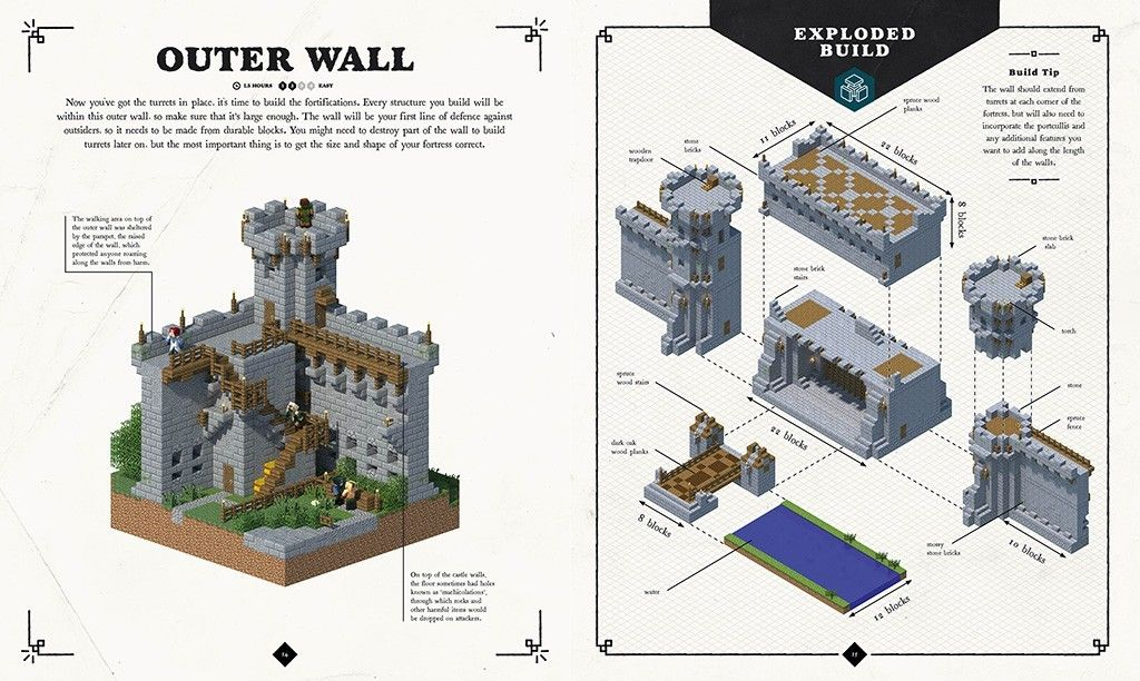 Minecraft castle step by step instructions