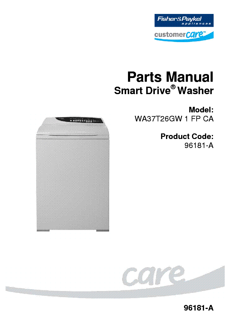 Fisher and paykel smart drive manual