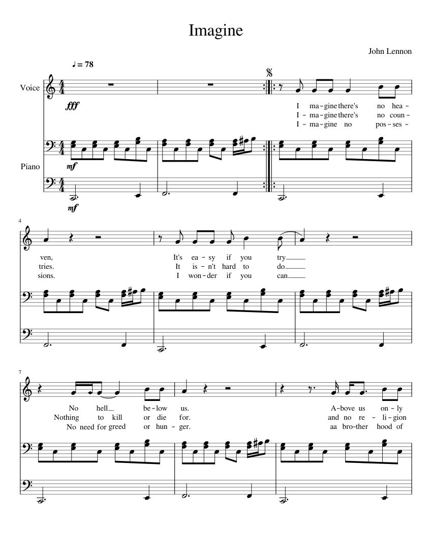 John lennon imagine sheet music pdf