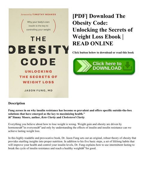 The obesity code pdf download free