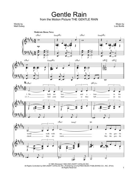 Gentle rain lead sheet pdf