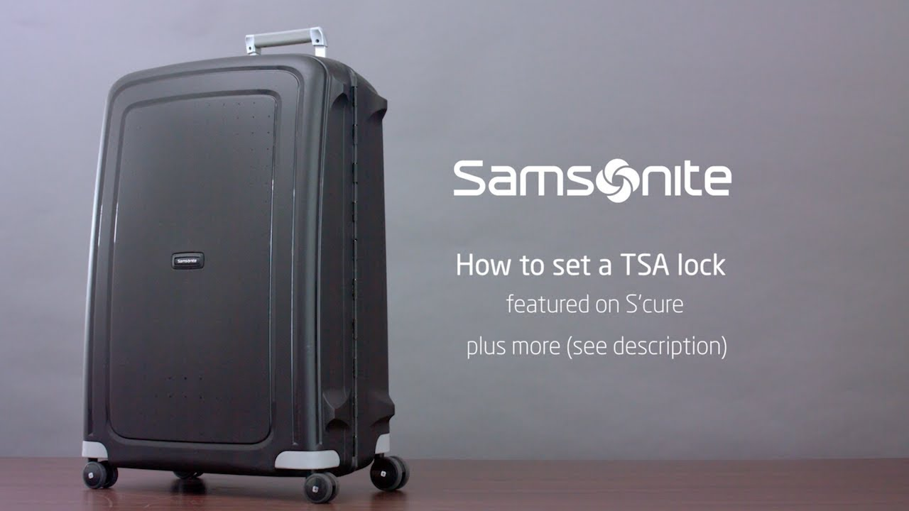 samsonite tsa lock instructions