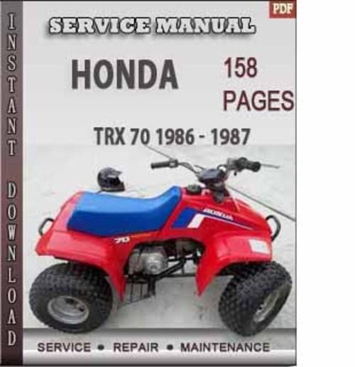 honda trx 250 service manual pdf