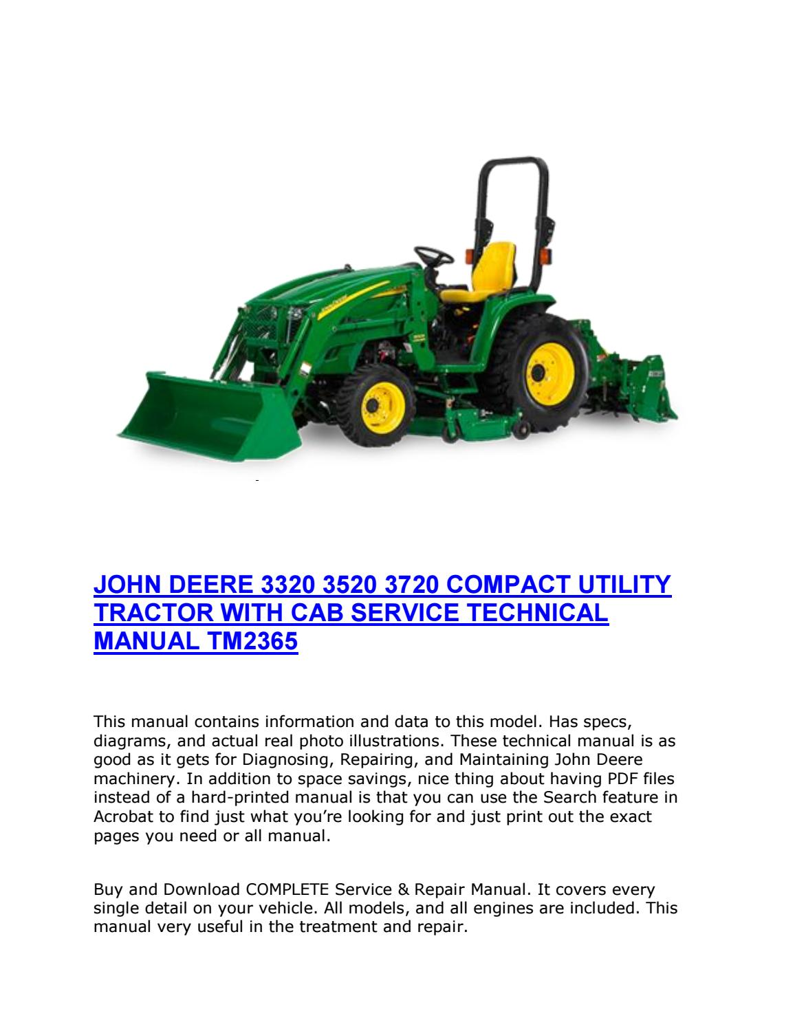 john deere 3720 service manual pdf
