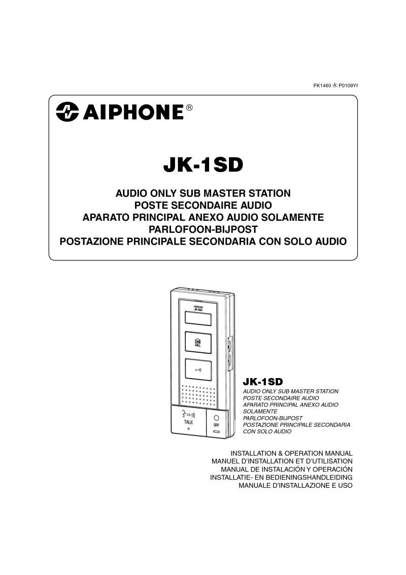aiphone jk-dv user manual