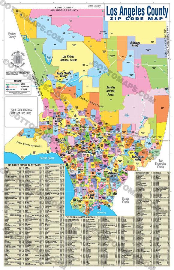Los angeles zip code map pdf