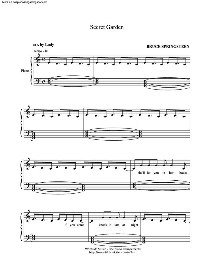 Hold on secret garden sheet music pdf