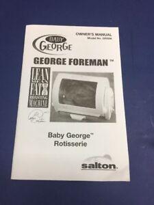 baby george foreman rotisserie manual