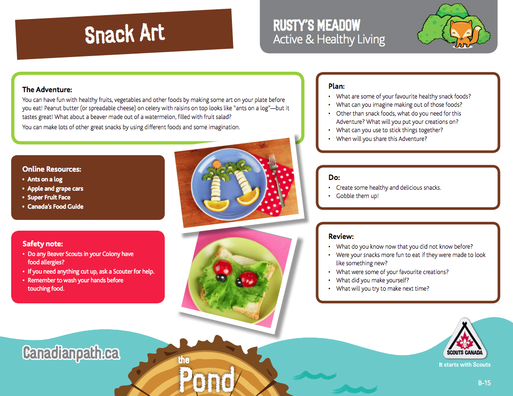 Beavers camping and outdoor activity application