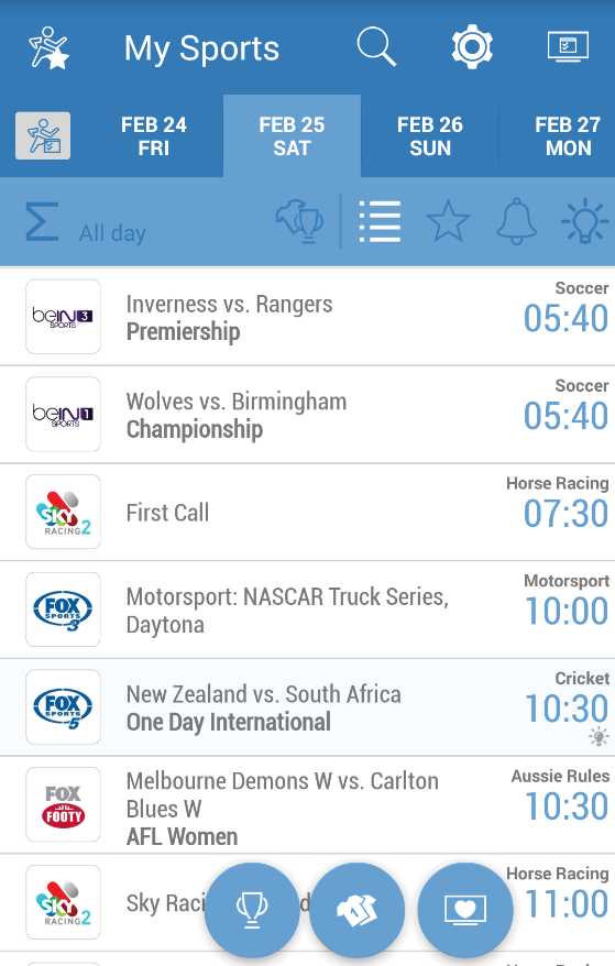Bein sports tv guide australia