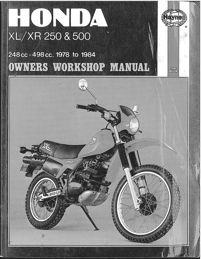 best shop manual for 1984 xr 500
