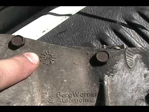 borg warner manual transmission identification