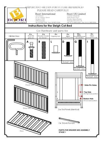 Bruin sleigh cot instruction manual