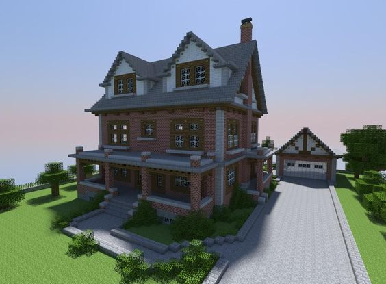 Minecraft how to build brick house