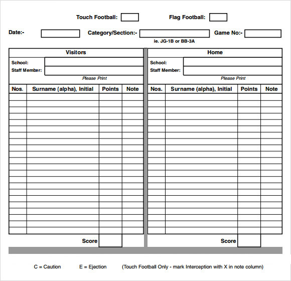 Careers game score sheet pdf