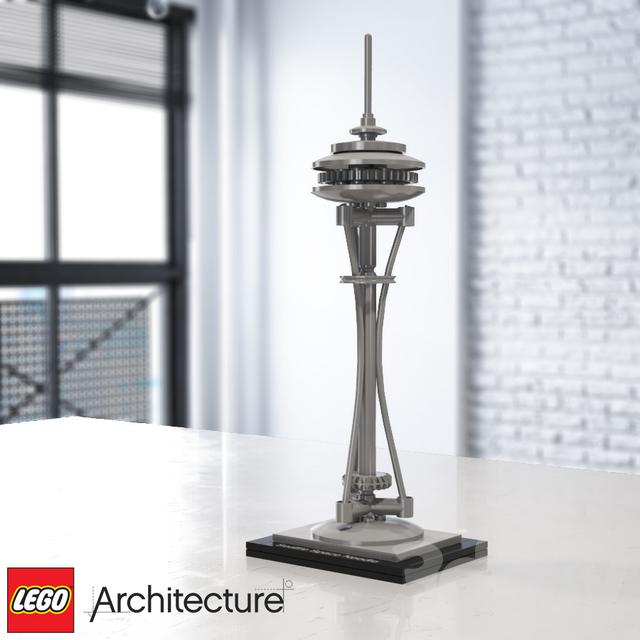 lego architecture space needle instructions