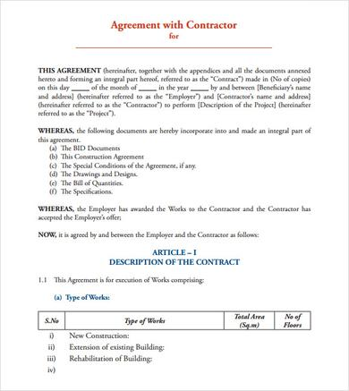 Simple building works contract pdf