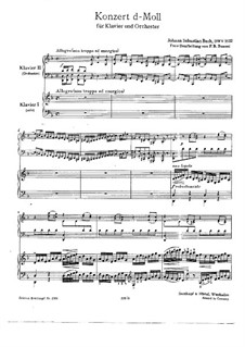 D minor concerto bach bwv 1052 sheet music piano pdf