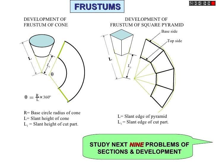 Frustum cone development formula pdf