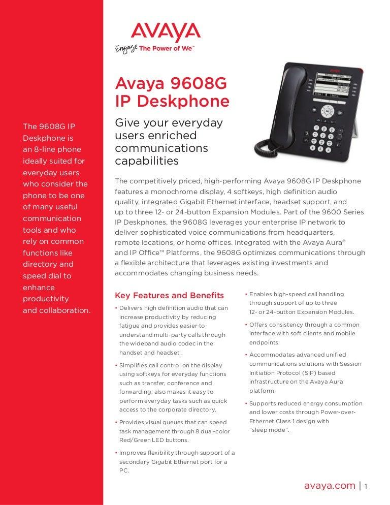 Avaya 5610sw ip phone manual