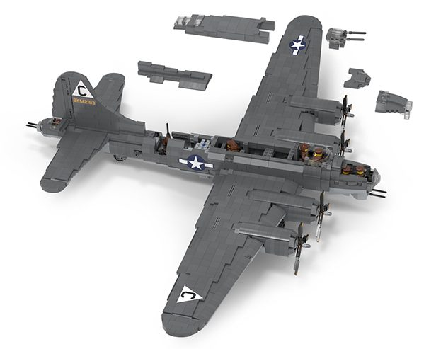 Lego b 17 flying fortress instructions