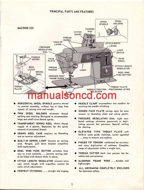 singer 1507 operation instruction manual