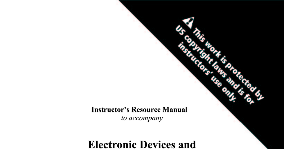 Electronic devices and circuit theory 10th edition solution manual pdf