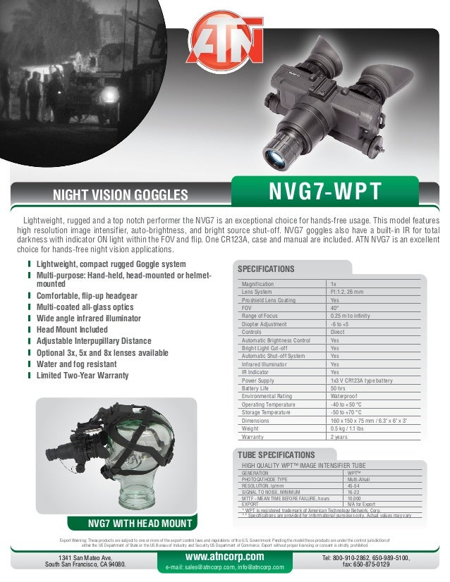 Eyeclops night vision goggles instruction manual