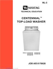 maytag centennial washer service tech manual