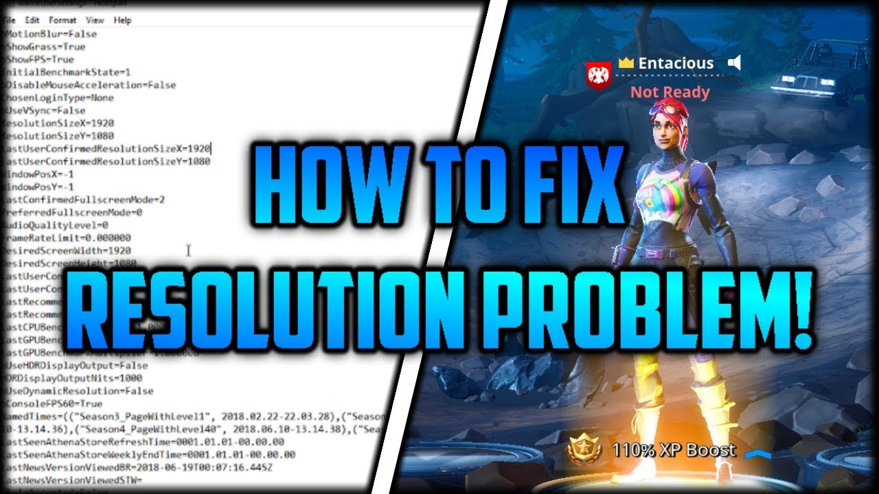 Fortnite how to change fullscreen resolution