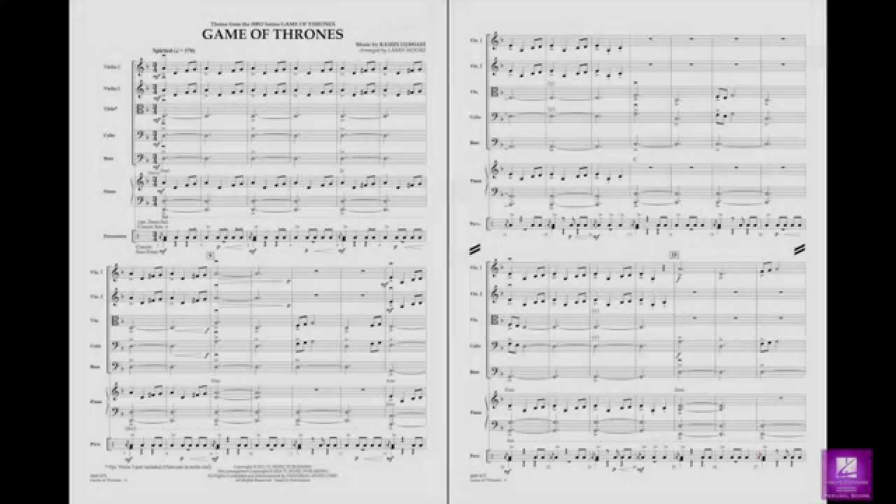 Game of thrones ragtime pdf