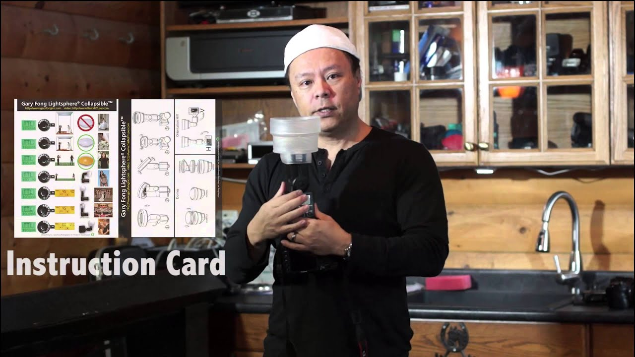 gary fong lightsphere instruction card