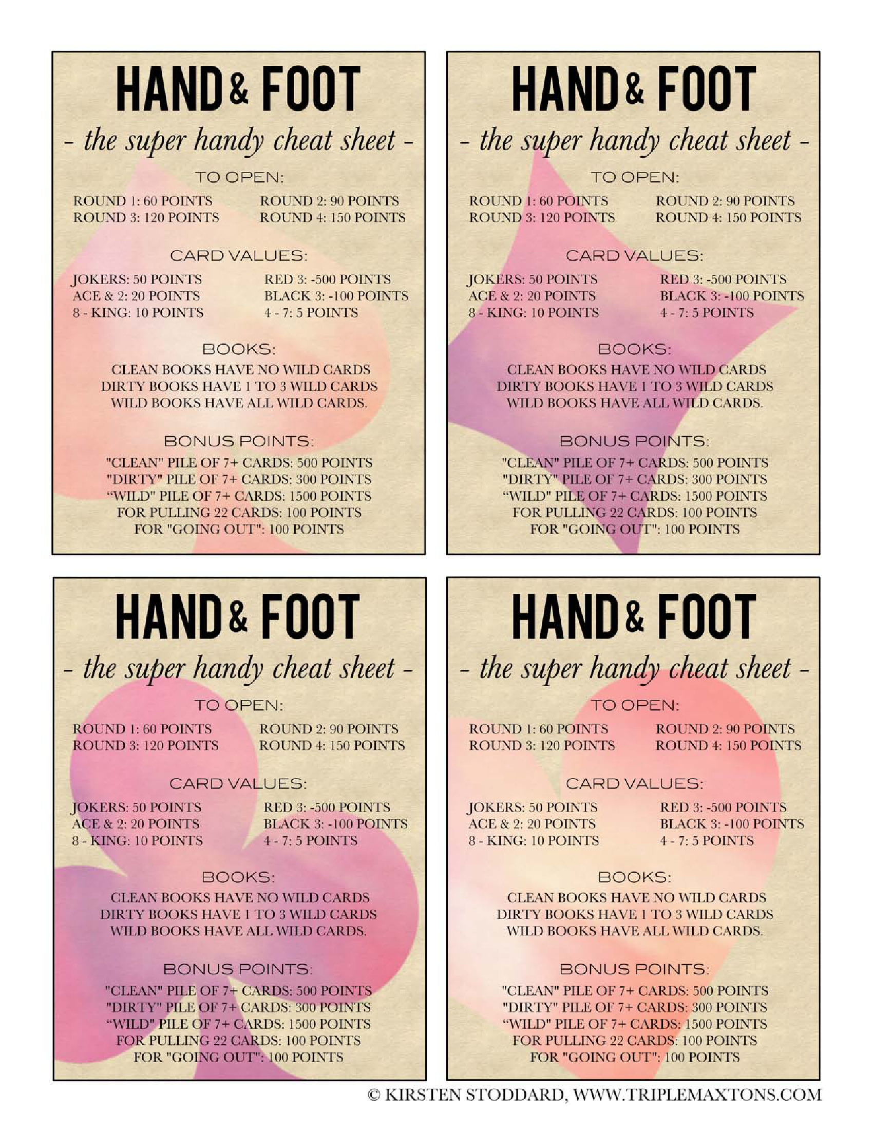 Hand and foot card game instructions