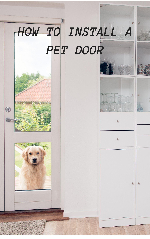 Hartman pet door installation instructions