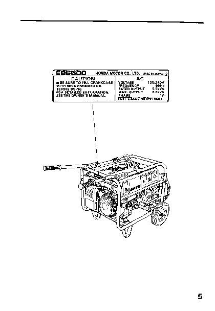 Honda 6500 generator owners manual