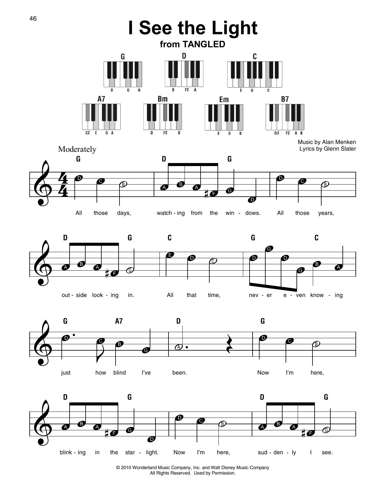 I see the light tangled piano pdf