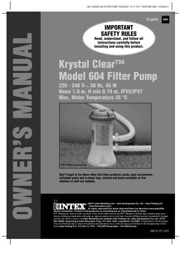 intex sand filter pump model sf80110 manual