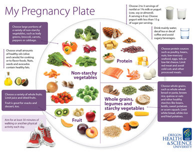 List of dietary guidelines for pregnant women