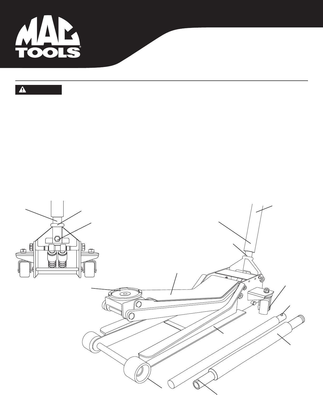 mac tools tl550e owners manual