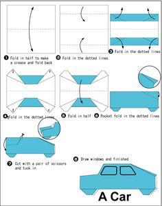 Money origami car instructions