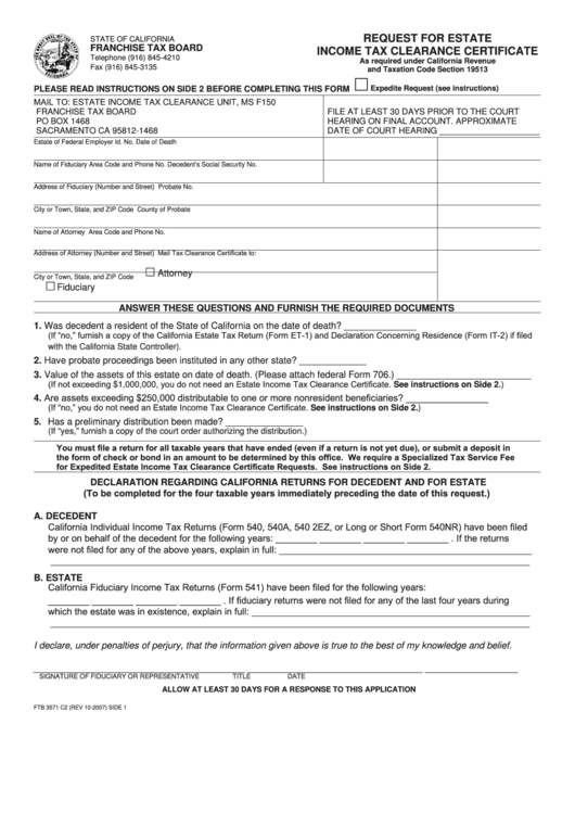 clearance tax certificate letter nj instructions form pdf jersey mississippi income estate c2 request
