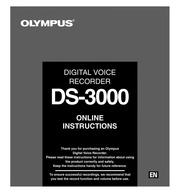 Olympus digital voice recorder ds 3300 manual