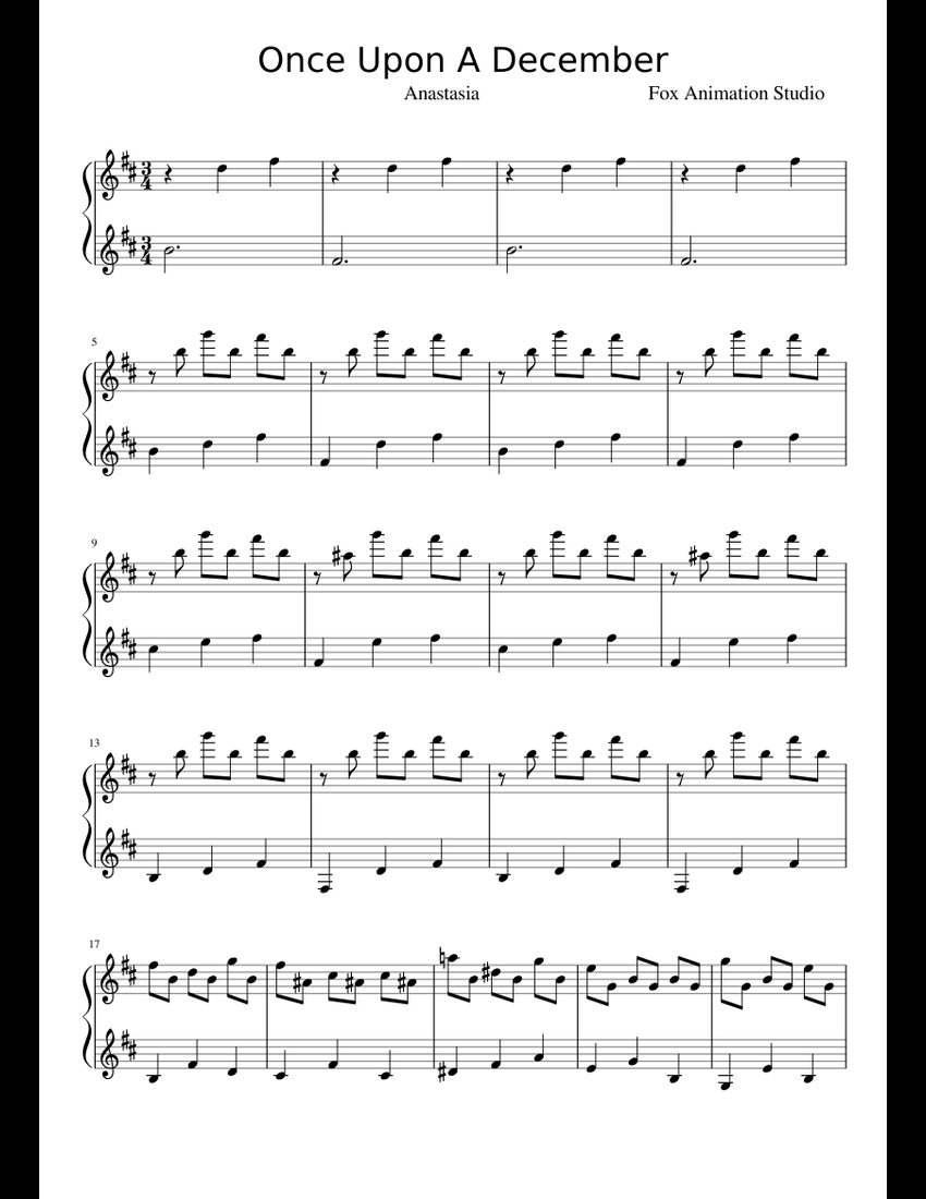 Once upon a december sheet music pdf