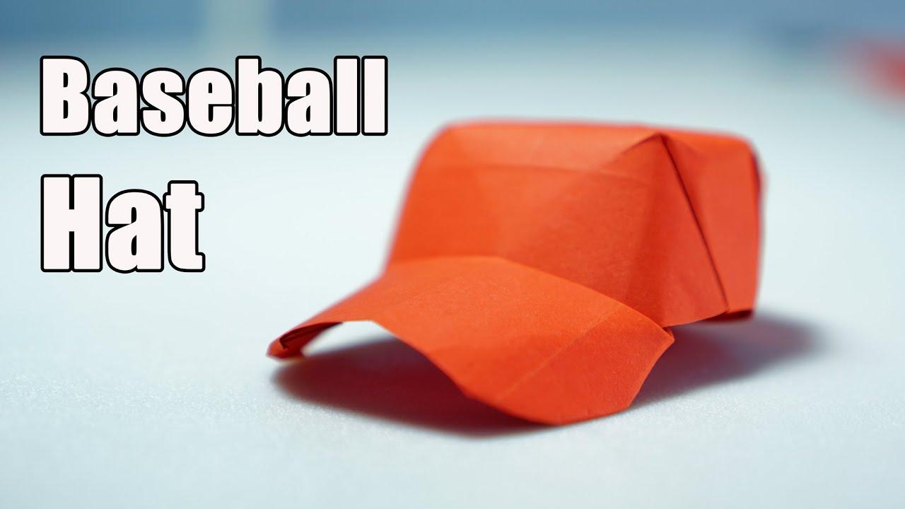 origami baseball cap folding instructions