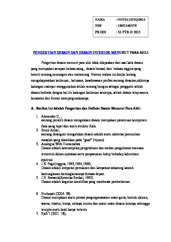 Pengertian desain menurut para ahli pdf