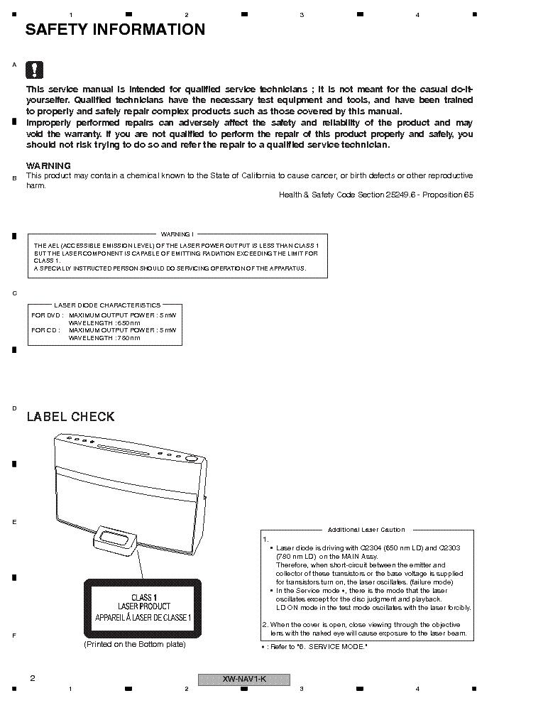 pioneer xw nav1 k manual