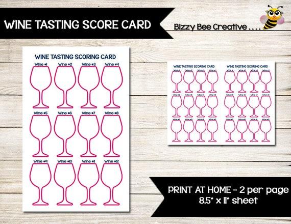 Prosecco tasting score cards pdf