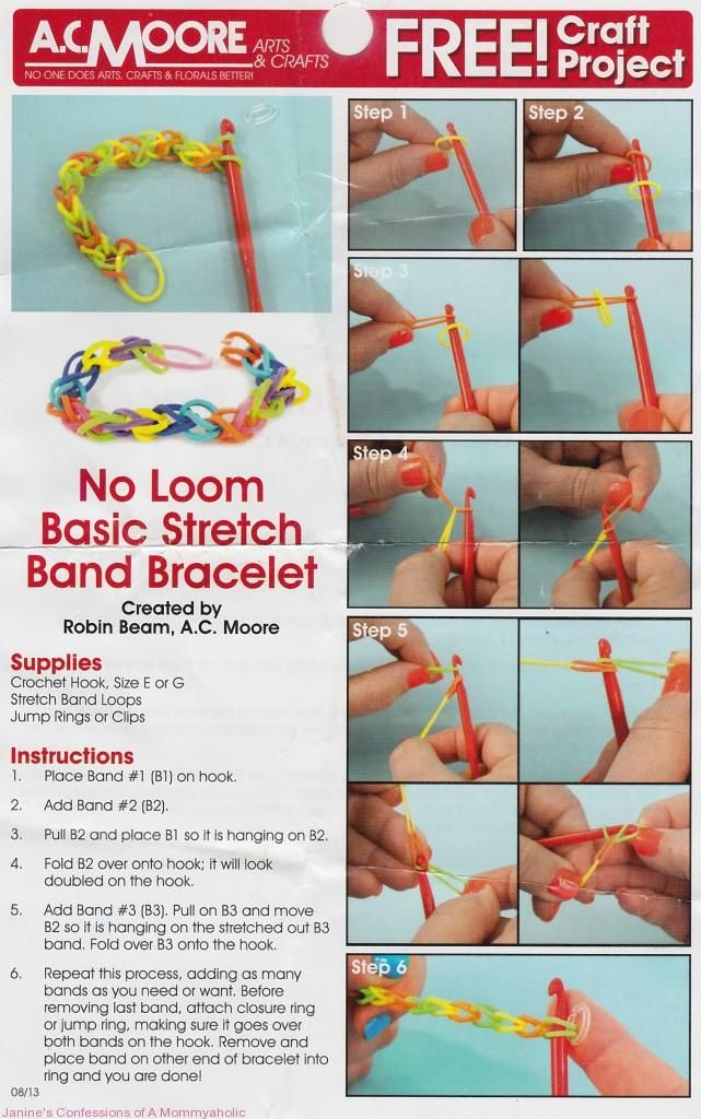 rubber band bracelets instructions printable