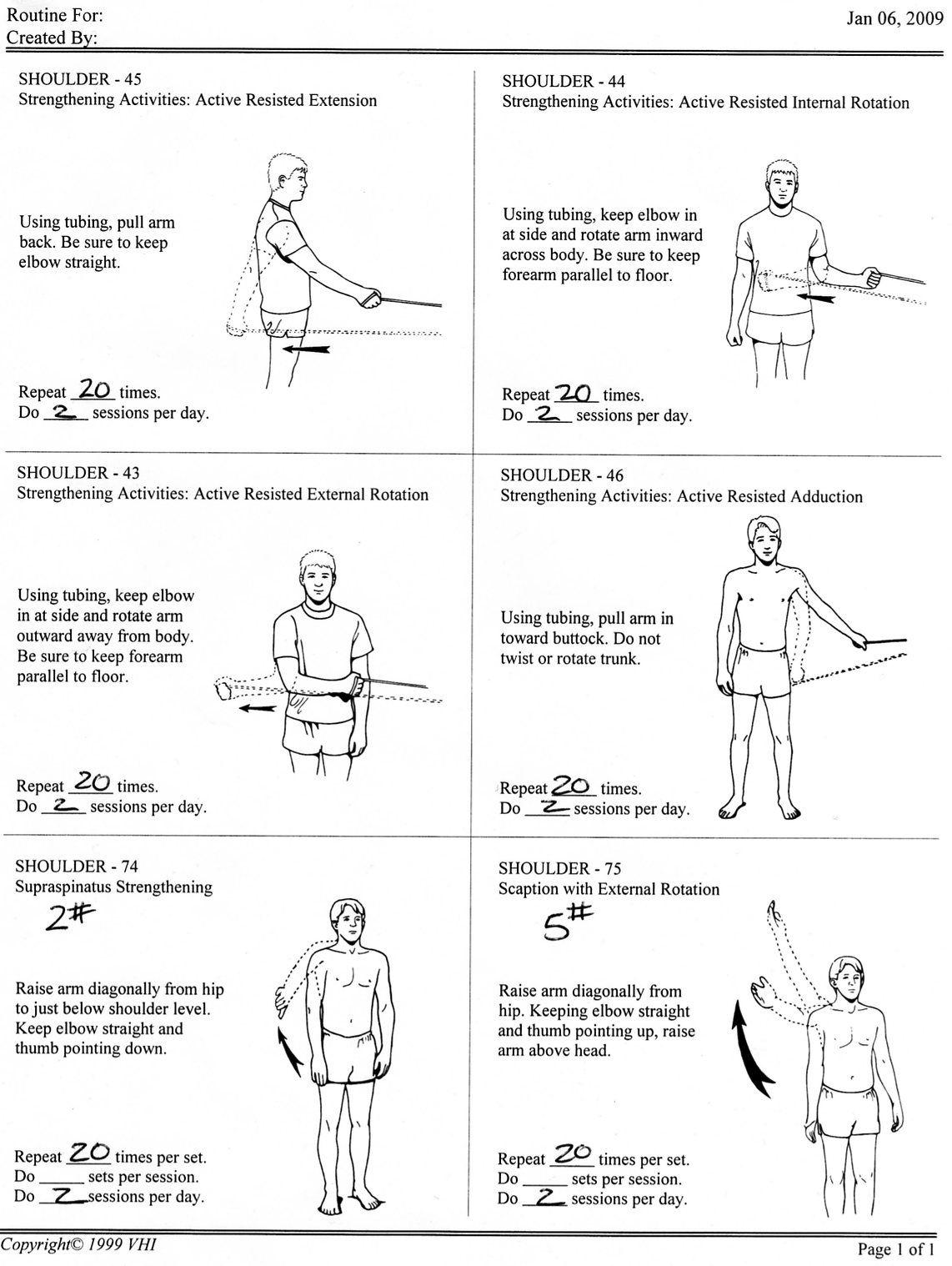 Shoulder girdle strengthening exercises pdf