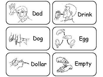 Sign language flash cards pdf